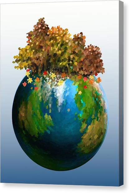 Canvas Print featuring the painting There Is Only One by Ivana Westin