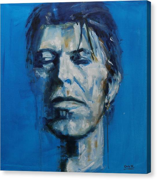 There S A Starman Waiting In The Sky Canvas Print