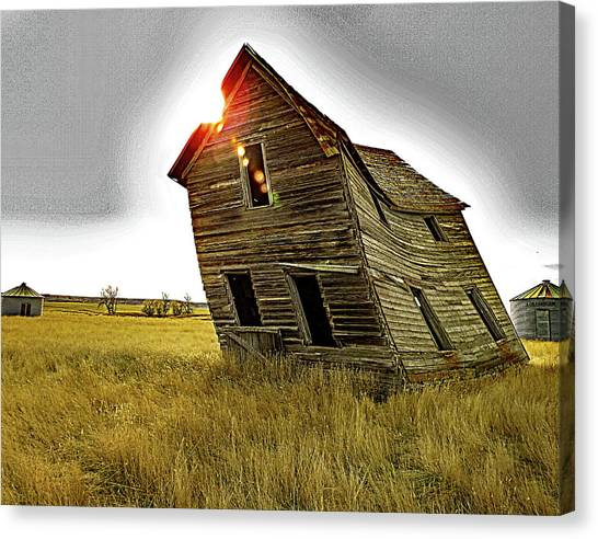 There Was Once A Crooked House Canvas Print