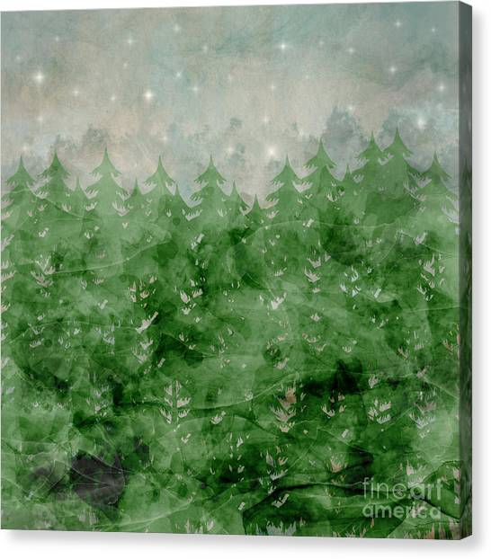 Fir Trees Canvas Print - Theres A Place Stars Go To  by Bri Buckley