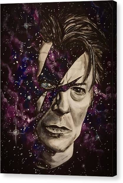 There's A Starman Waiting In The Sky Canvas Print