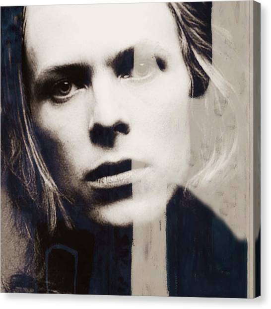 David Bowie Canvas Print - There's A Starman Waiting In The Sky by Paul Lovering