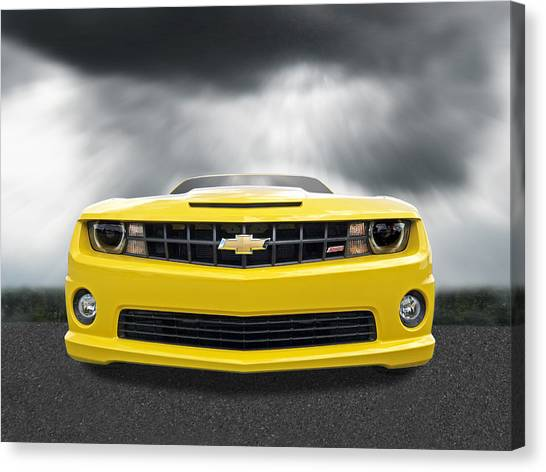 There's A Storm Coming - Camaro Ss Canvas Print