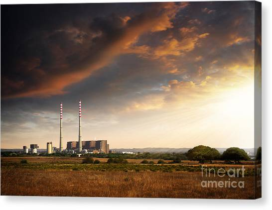 Global Warming Canvas Print - Thermoelectrical Plant by Carlos Caetano