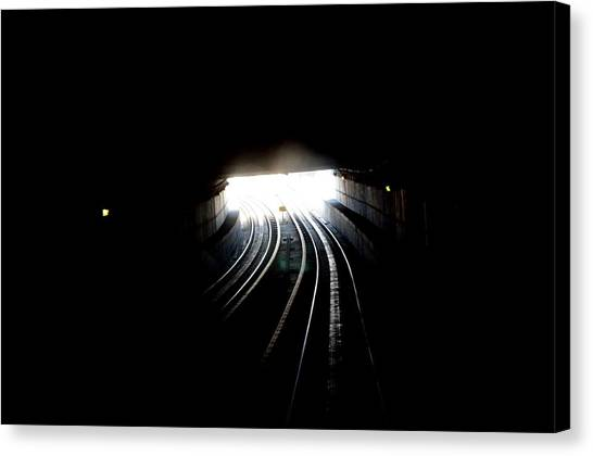 Therz Always Light At The End Of The Tunnel Canvas Print by Sateesh Challa