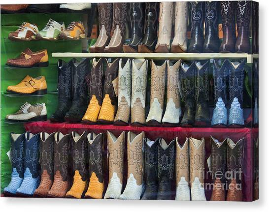 These Boots Are Made For Walkin'... Canvas Print by Mark Hendrickson