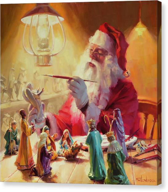Light Paint Canvas Print - These Gifts Are Better Than Toys by Steve Henderson