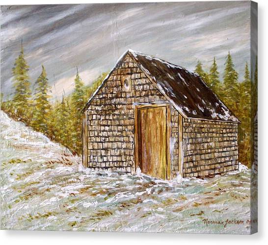 Thewoodshed Canvas Print by Norman F Jackson
