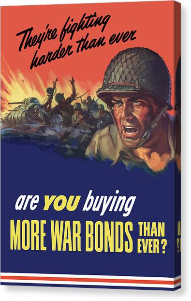 World War Ii Canvas Print - They're Fighting Harder Than Ever by War Is Hell Store