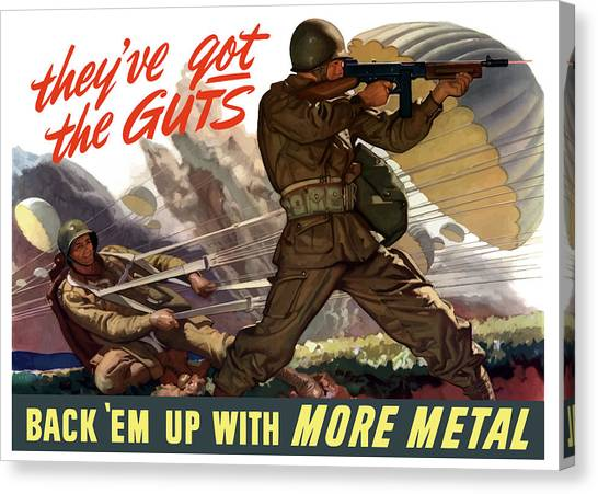Military Canvas Print - They've Got The Guts by War Is Hell Store