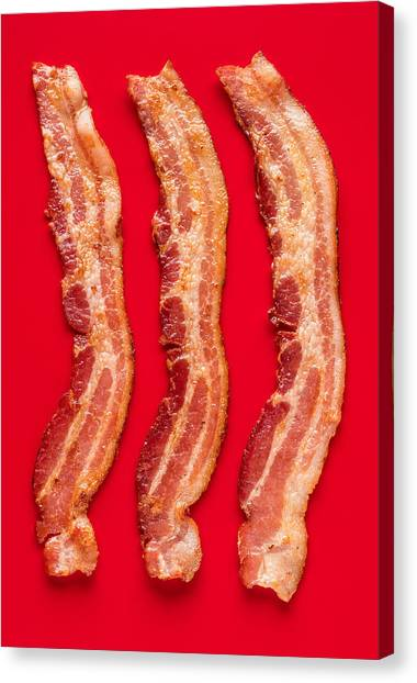 Bacon Canvas Print - Thick Cut Bacon Served Up by Steve Gadomski