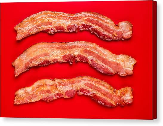 Bacon Canvas Print - Thick Cut Bacon by Steve Gadomski
