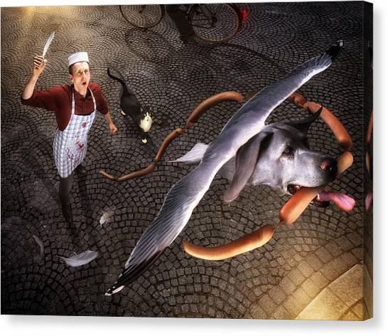 Paris Night Canvas Print - Thief! by Christophe Kiciak