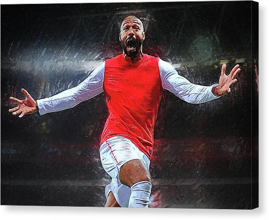 New York Red Bulls Canvas Print - Thierry Henry by Semih Yurdabak