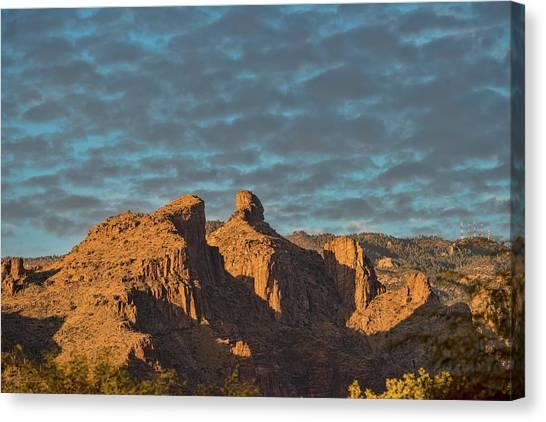 Canvas Print featuring the photograph Thimble Peak During Golden Hour by Dan McManus