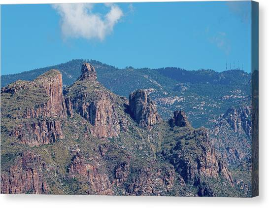 Canvas Print featuring the photograph Thimble Peak With Summer Greenery by Dan McManus