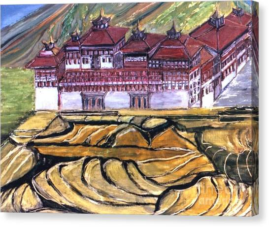 Thimpu Dzong Canvas Print by Duygu Kivanc