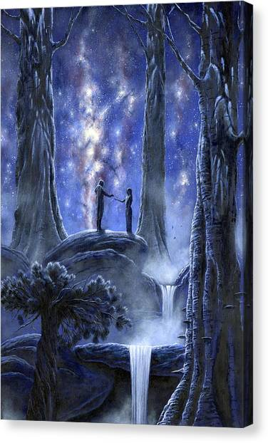 Canvas Print featuring the painting Thingol And Melian by Kip Rasmussen