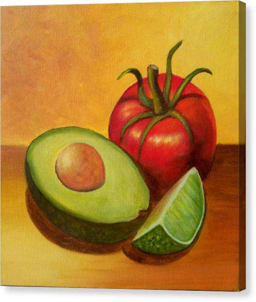 Think Guacamole - Sold Canvas Print
