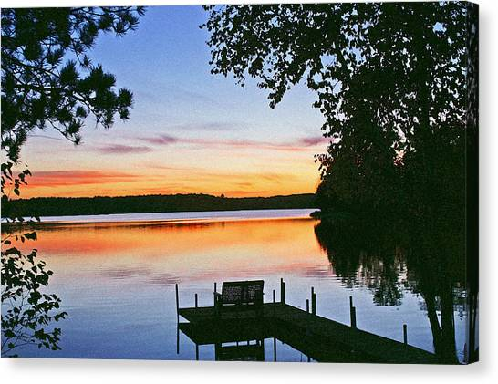 Lake Sunsets Canvas Print - Thinking Of You by Bill Morgenstern
