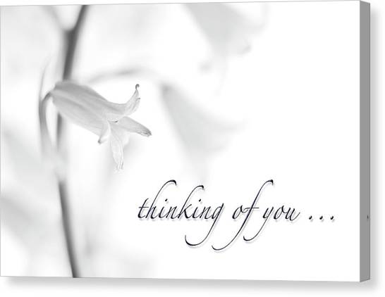 Soft Focus Canvas Print - Thinking Of You Notecard by Carol Leigh