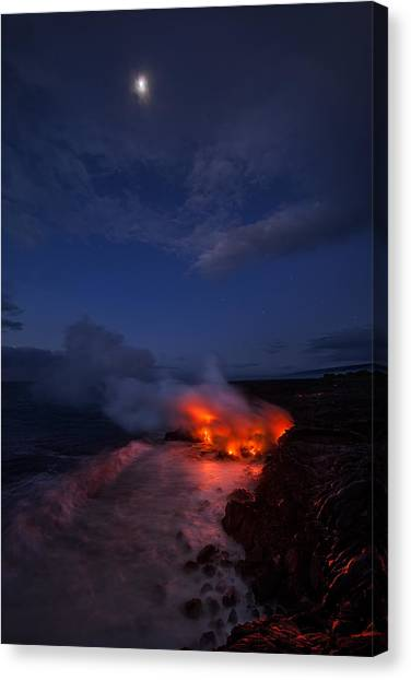 Lava Canvas Print - Thinking Thin by Miles Morgan