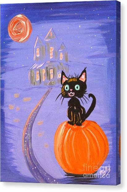 Things I Like Best At Halloween Canvas Print