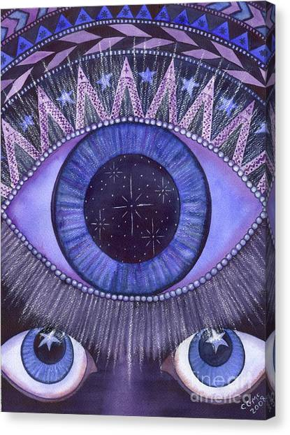 Third Eye Chakra Canvas Print by Catherine G McElroy