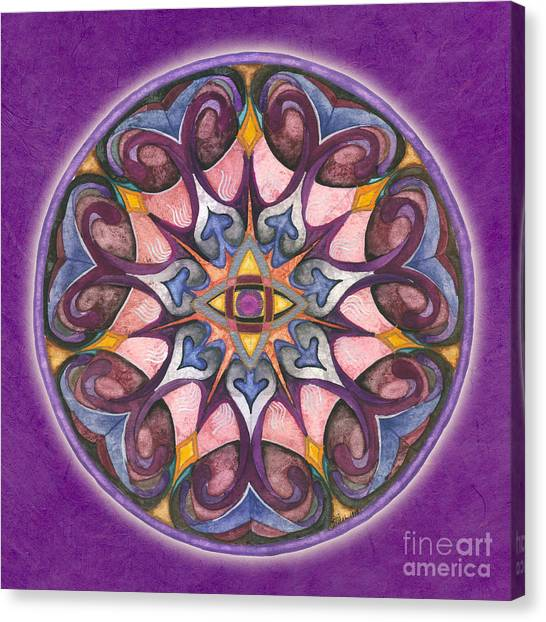 Third Eye Mandala Canvas Print