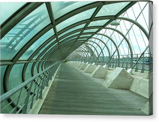 Third Millenium Bridge, Zaragoza, Spain Canvas Print