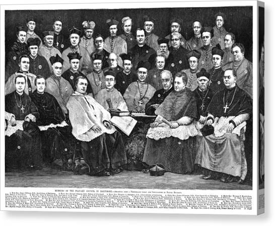 Thomas Connors Canvas Print - Third Plenary Council, 1884 by Granger