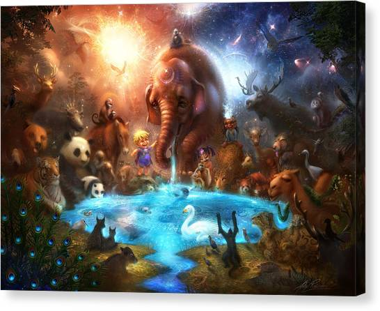 Fantasy Canvas Print - Thirst For Life by Alex Ruiz