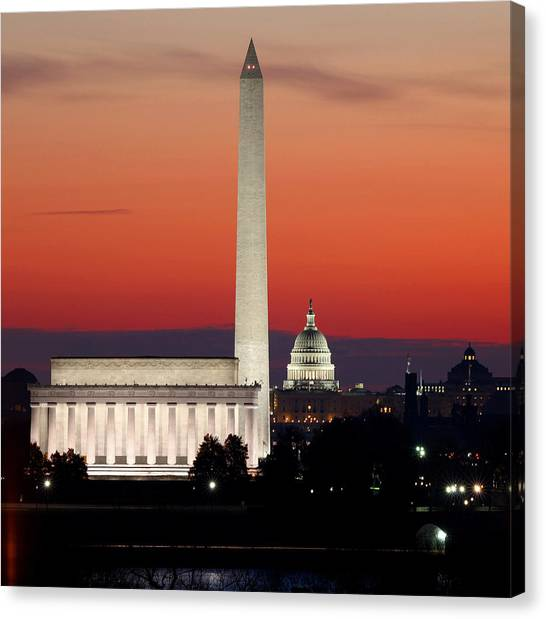 Washington Monument Canvas Print - This City by Mitch Cat