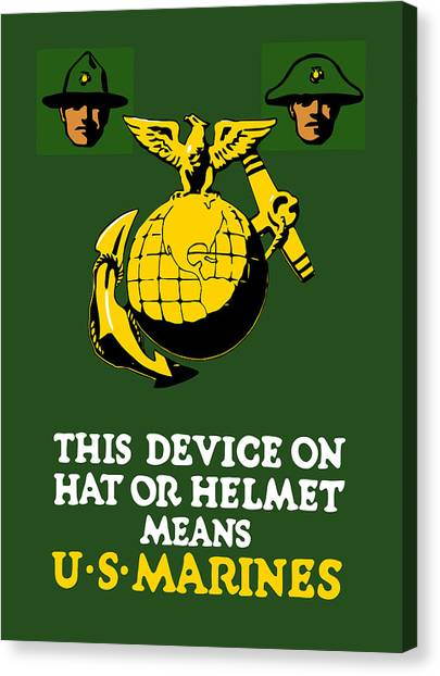 Rifles Canvas Print - This Device Means Us Marines  by War Is Hell Store
