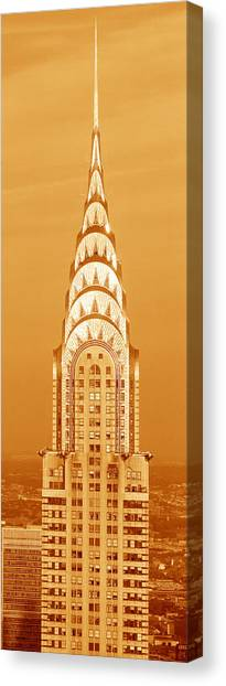 Buildings Canvas Print - Chrysler Building At Sunset by Panoramic Images
