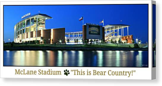 Baylor University Canvas Print - This Is Bear Country by Stephen Stookey