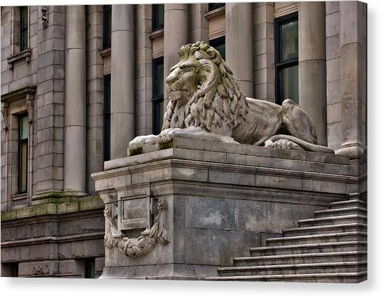 This Is British Columbia No.48 - Vancouver Art Gallery Lion Canvas Print by Paul W Sharpe Aka Wizard of Wonders