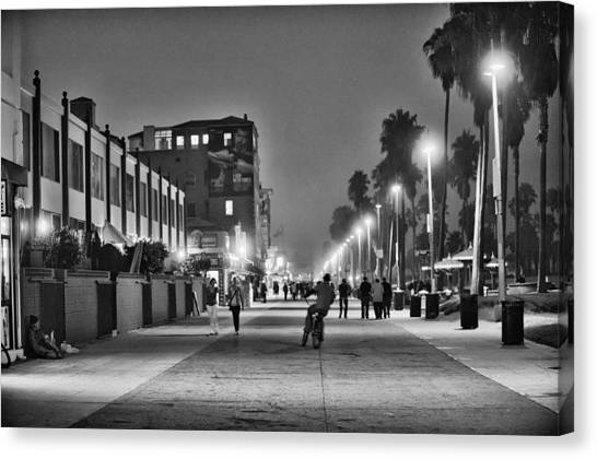 Venice Beach Canvas Print - This Is California No. 11 - Venice Beach Biker by Paul W Sharpe Aka Wizard of Wonders