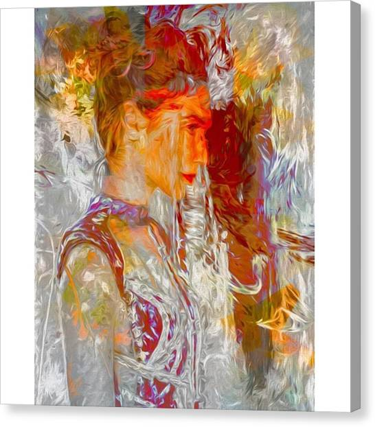 Hollywood Canvas Print - This Is Israeli Model / Actress Gal by David Haskett II