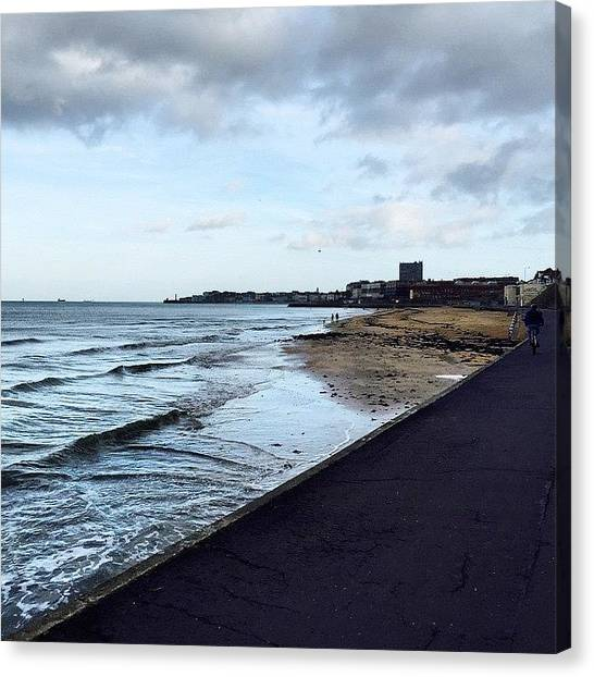 Jaws Canvas Print - This Is Margate Beach. #autumn by Dharmesh Bharadva