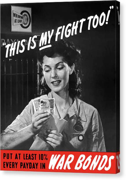 Factories Canvas Print - This Is My Fight Too - Ww2 by War Is Hell Store