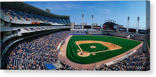 Texas Rangers Canvas Print - This Is The New Comiskey Park Stadium by Panoramic Images