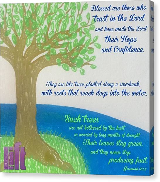 """Design Canvas Print - This Is What The Lord Says: """"cursed by LIFT Women's Ministry designs --by Julie Hurttgam"""