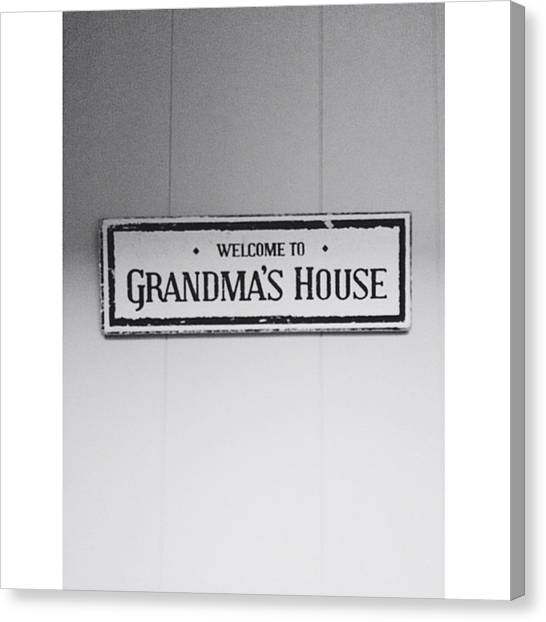 Grandma Canvas Print - Grandma's House by Sean Meier