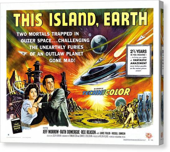This Island Earth Science Fiction Classic Movie Canvas Print