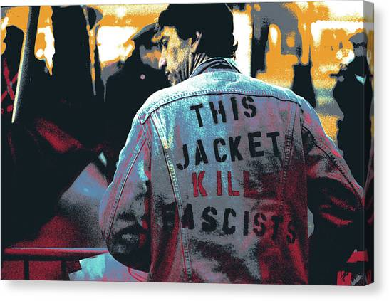Dick Cheney Canvas Print - This Jacket Kills Fascists by Shay Culligan