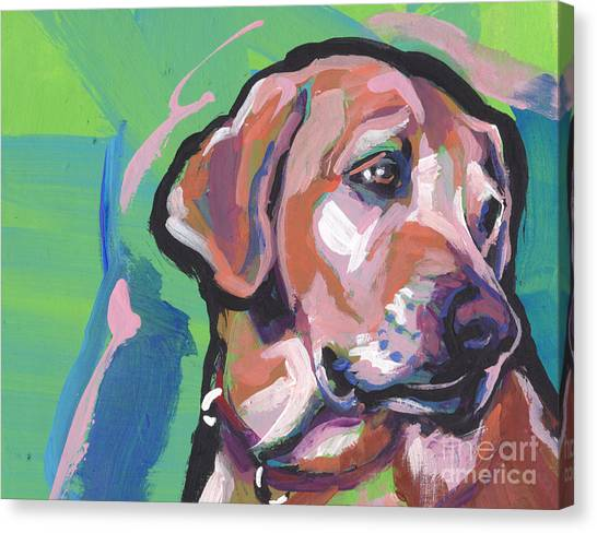 Yellow Labrador Canvas Print - This Lab Adores You by Lea S