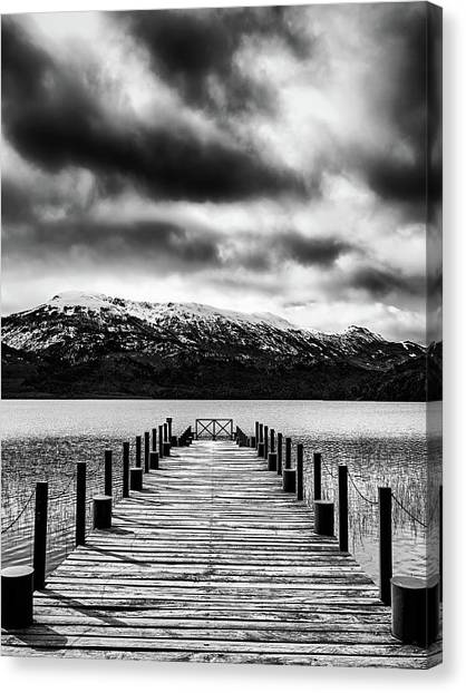 Dramatic Black And White Scene In The Argentine Patagonia Canvas Print