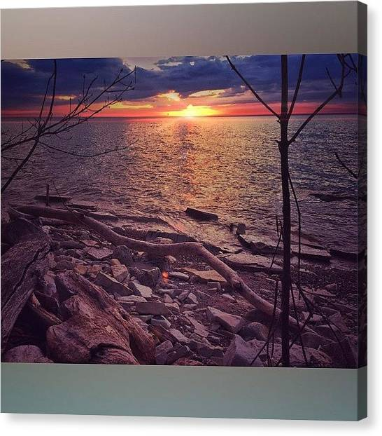 Beach Sunrises Canvas Print - This Morning From North Point. Almost by Andrew Slater