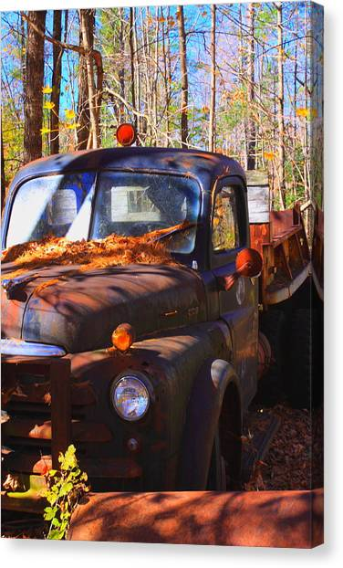 This Old Truck Canvas Print by Tom Johnson